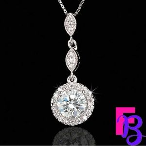 2 CT Round Brilliant Platinum Pendant & Chain